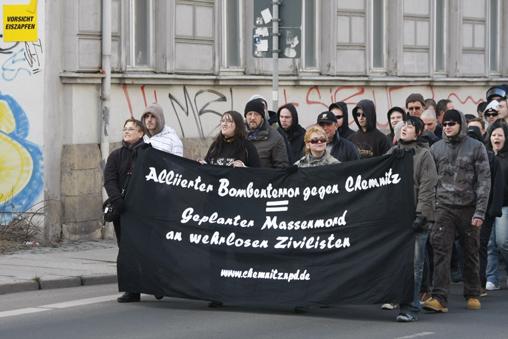 Die Chemnitzer NPD am 05. März 2011 in Chemnitz